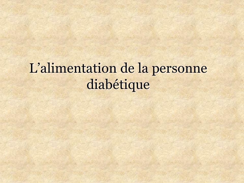 L'alimentation de la personne diabétique .PDF