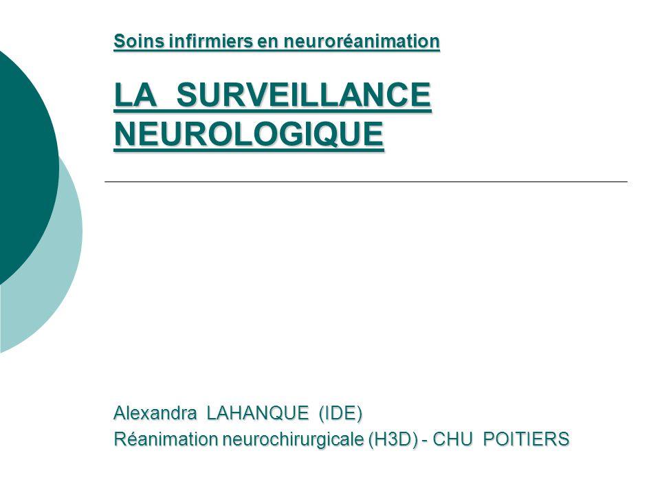 LA SURVEILLANCE NEUROLOGIQUE .PDF