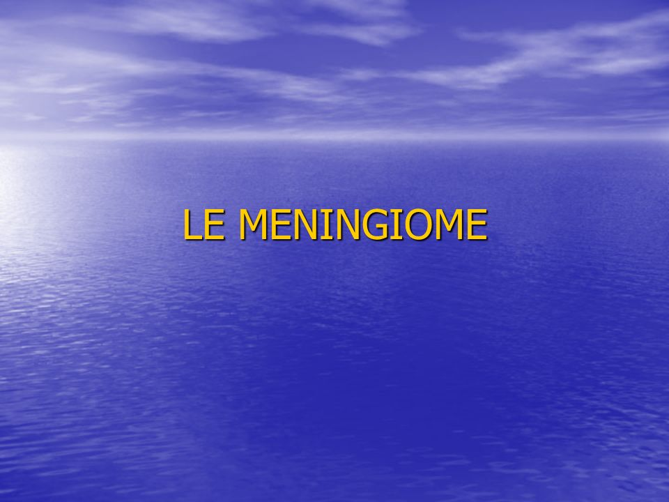 LE MENINGIOME .PDF