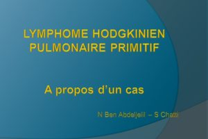 LYMPHOME HODGKINIEN PULMONAIRE PRIMITIF .PDF