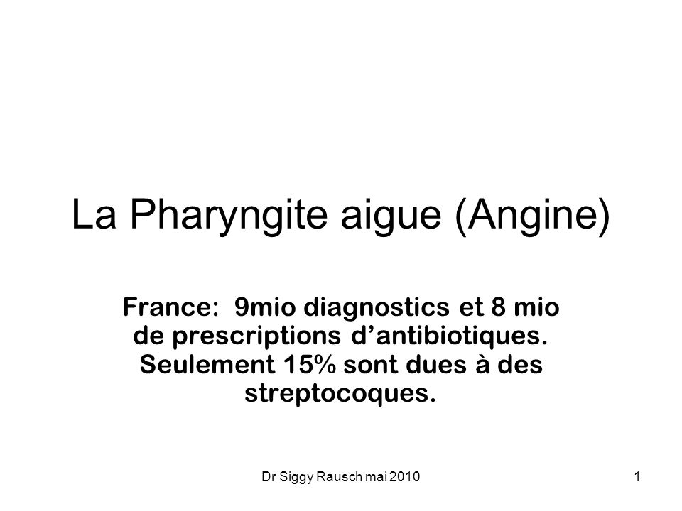 La Pharyngite aigue (Angine) .PDF