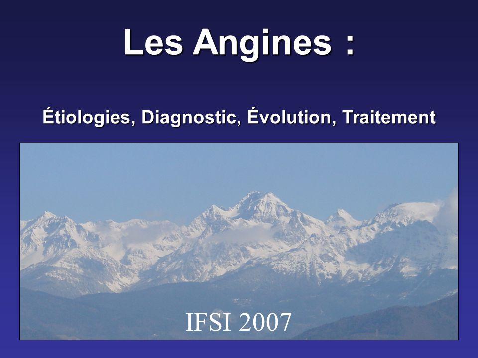 Les Angines : Étiologies Diagnostic Évolution Traitement .PDF