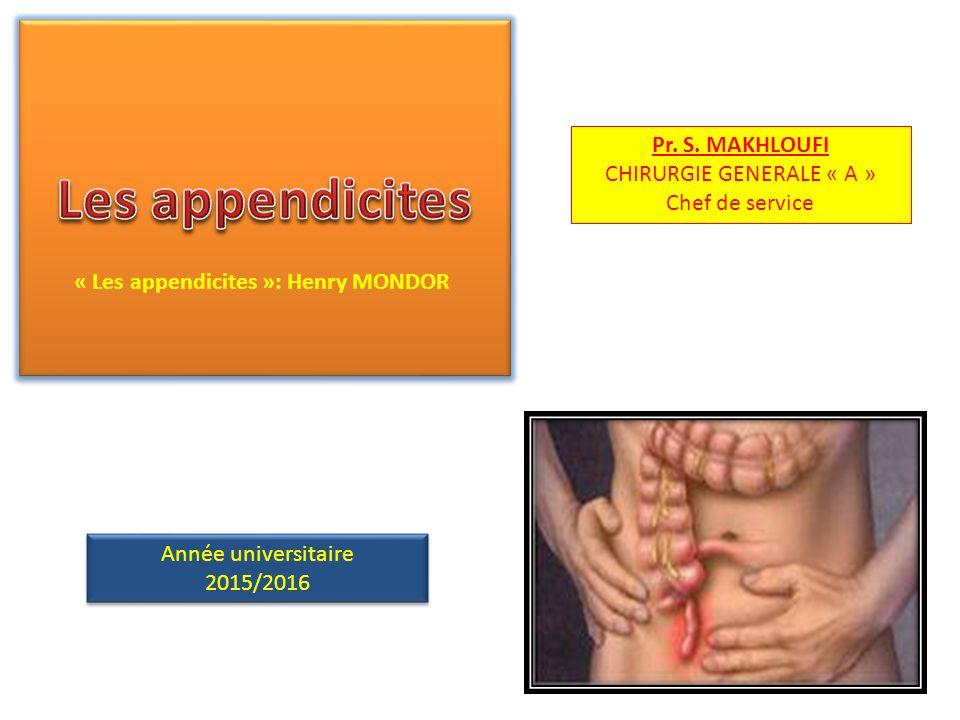 Les appendicites chirurgie .PDF