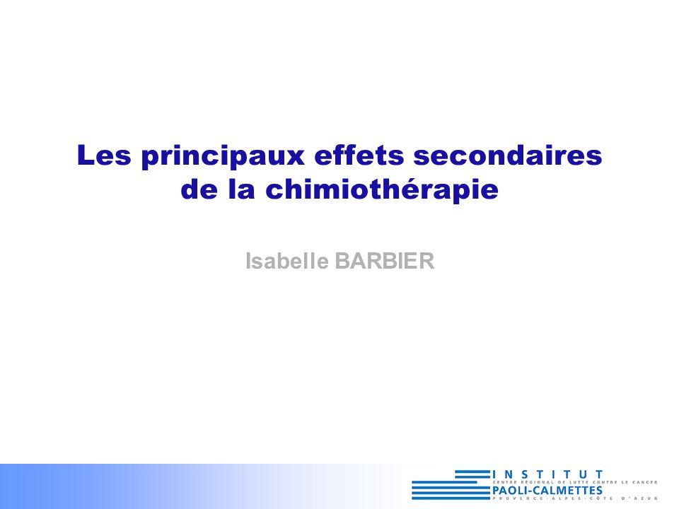 Les principaux effets secondaires de la chimiothérapie .PDF