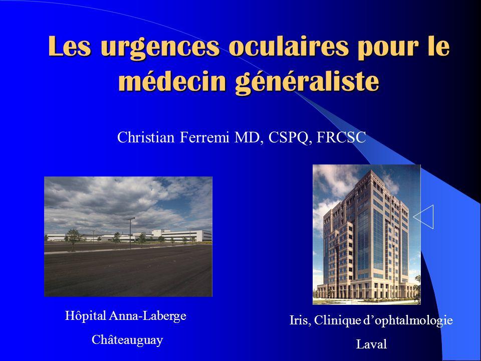 Les urgences oculaires pour le médecin généraliste .PDF