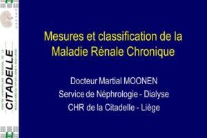 Mesures et classification de la Maladie Rénale Chronique .PDF