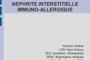 NEPHRITE INTERSTITIELLE IMMUNO-ALLERGIQUE .PDF