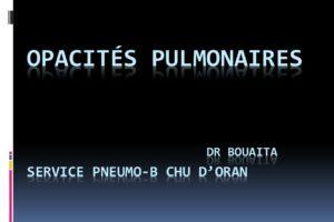 Opacités pulmonaires .PDF