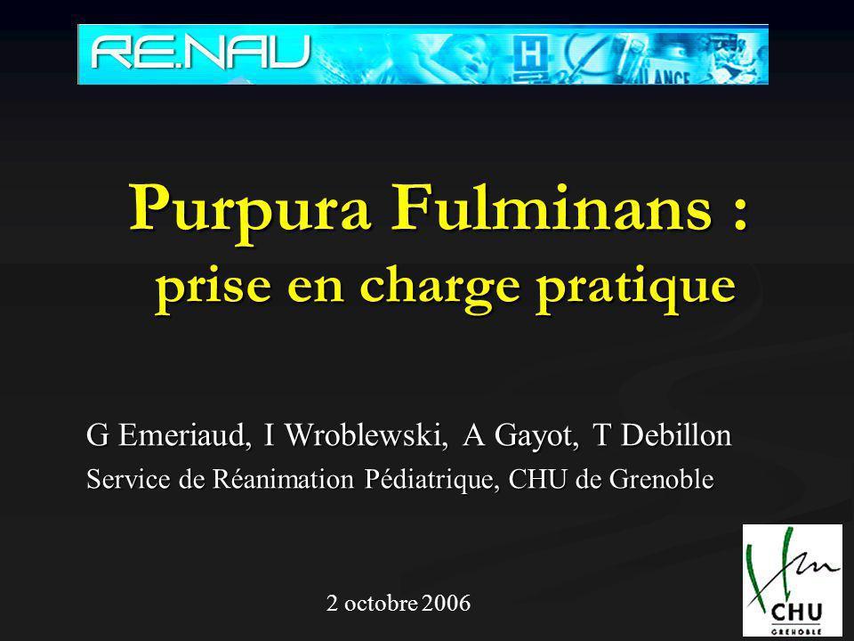 Purpura Fulminans : prise en charge pratique .PDF