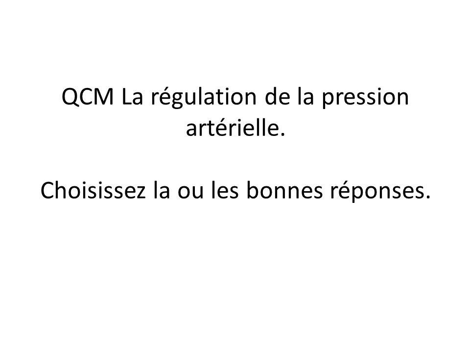 QCM La régulation de la pression artérielle .QCM (PDF)
