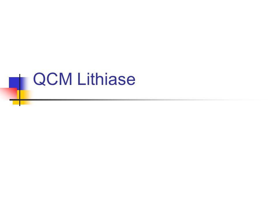 QCM Lithiase .QCM (PDF)