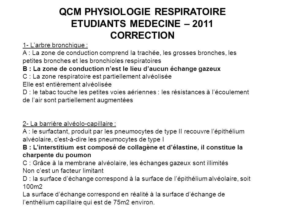 QCM PHYSIOLOGIE RESPIRATOIRE .QCM (PDF)
