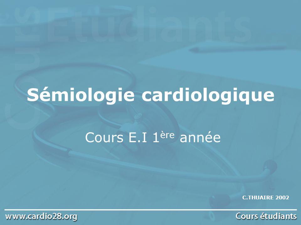 Sémiologie cardiologique .PDF