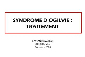 SYNDROME D'OGILVIE : TRAITEMENT .PDF