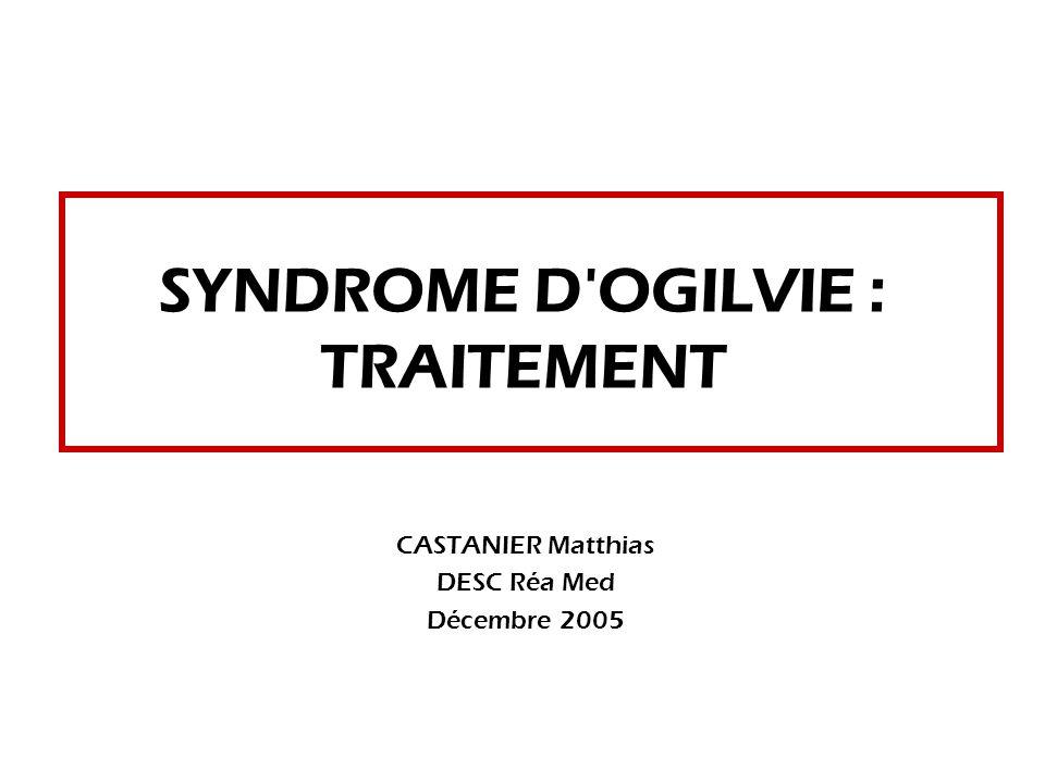SYNDROME D'OGILVIE : TRAITEMENT .PDF