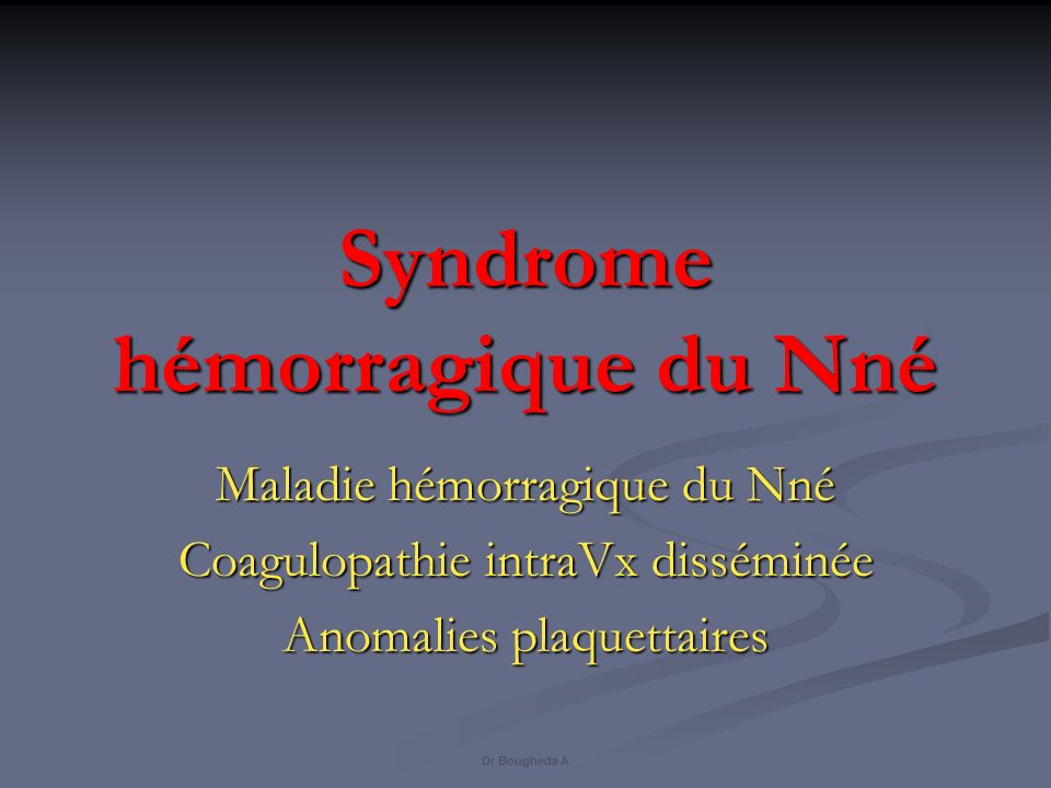Syndrome hémorragique du Nné .PDF