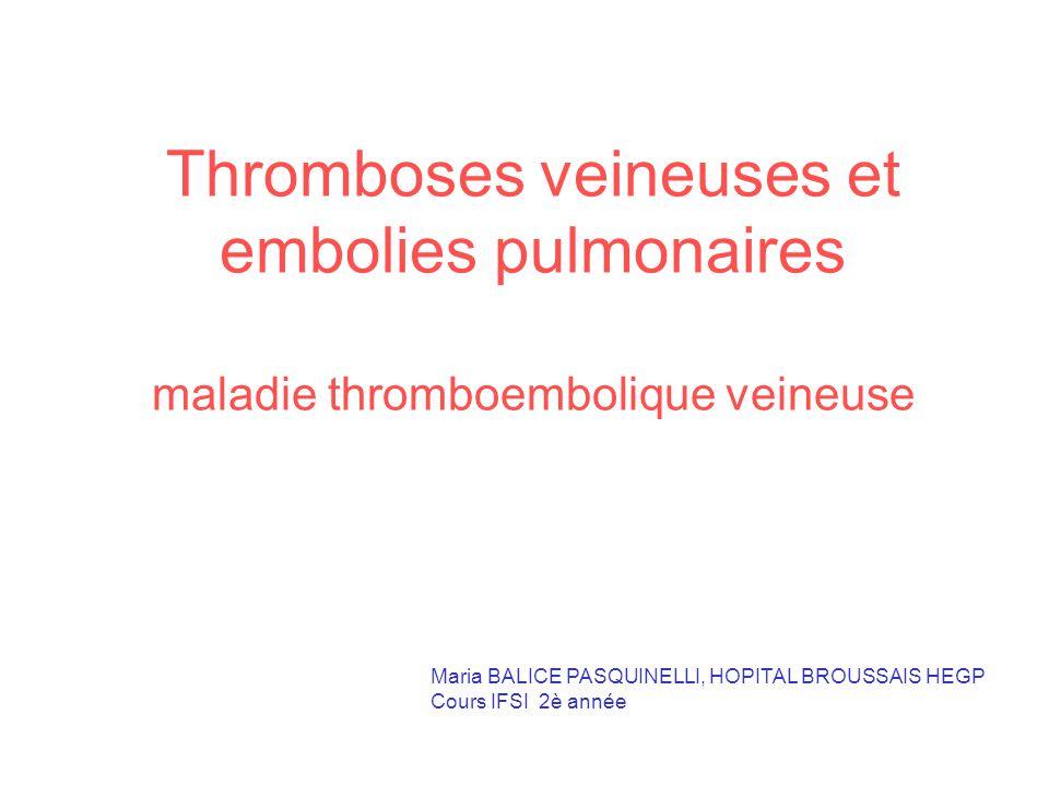 Thromboses veineuses et embolies pulmonaires .PDF