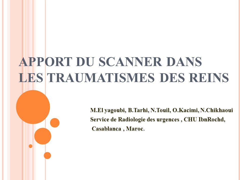 SCANNER ET TRAUMATISMES DES REINS .PDF