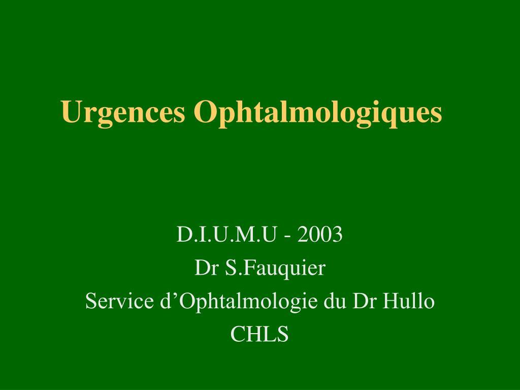 Urgences Ophtalmologiques .PDF