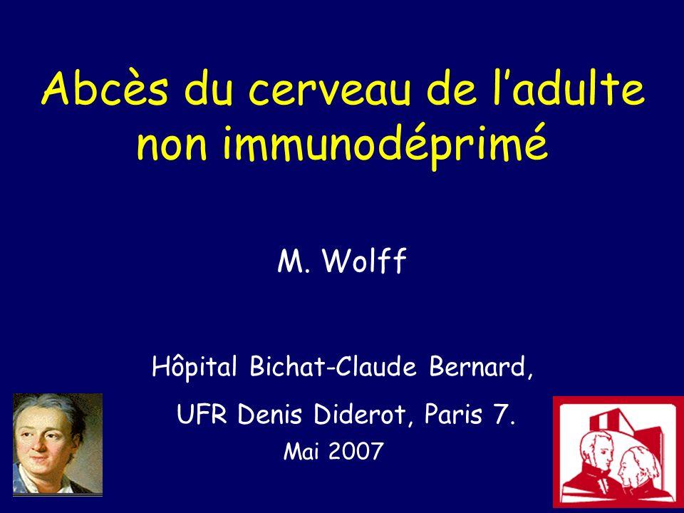 Abcès du cerveau de l'adulte non immunodéprimé .PDF