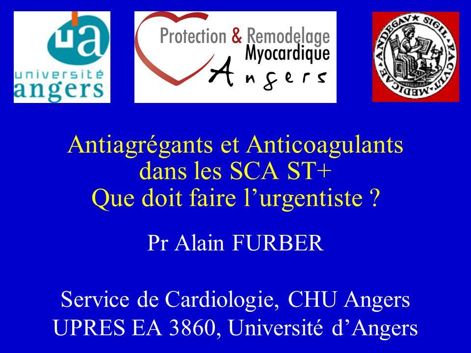 Antiagrégants et Anticoagulants dans les SCA ST+ .PDF