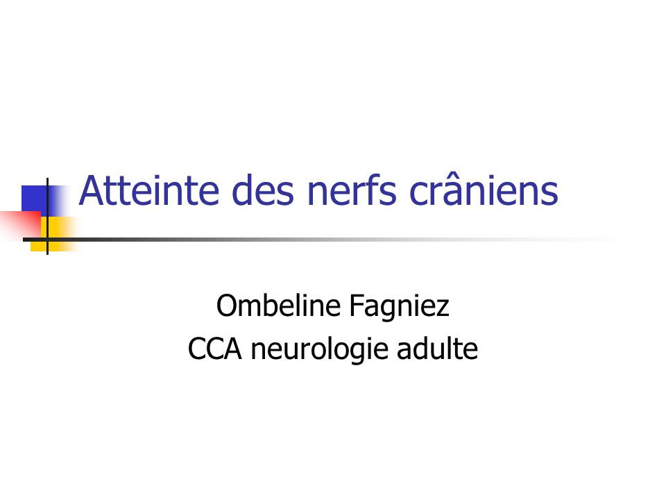 Atteinte des nerfs crâniens .PDF