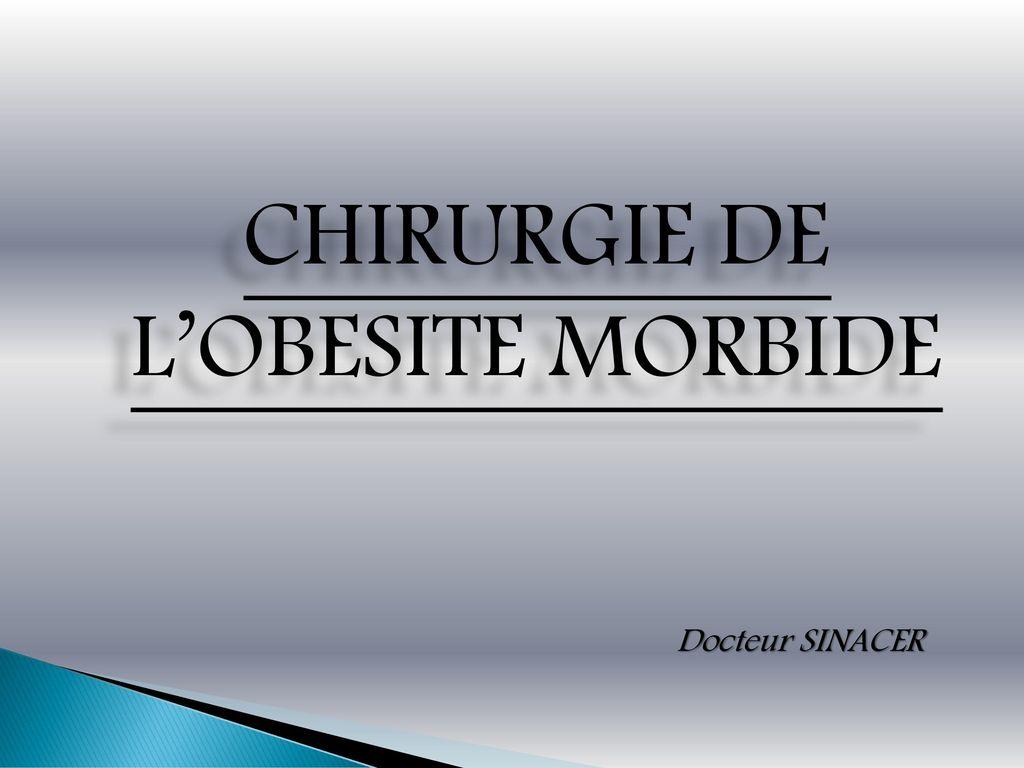 CHIRURGIE DE L'OBESITE MORBIDE .PDF