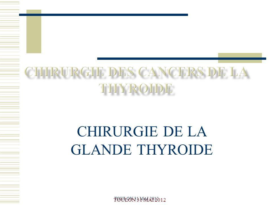 CHIRURGIE DE LA GLANDE THYROIDE .PDF