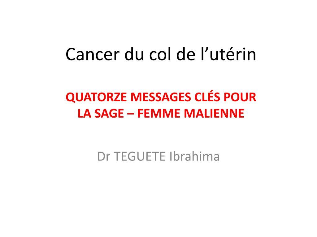 Cancer du col de l'utérin .PDF