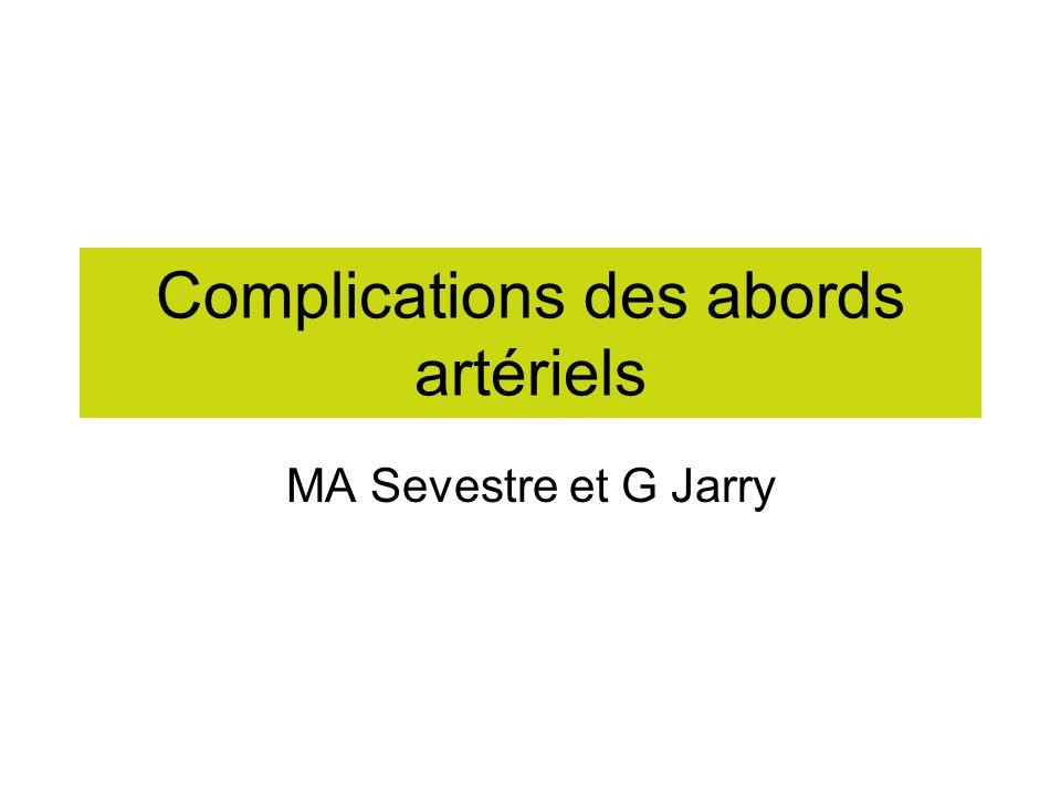 Complications des abords artériels .PDF