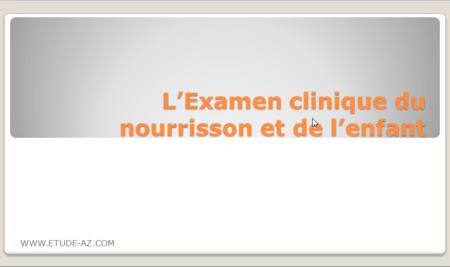 L'Examen clinique du nourrisson et de l'enfant .PDF
