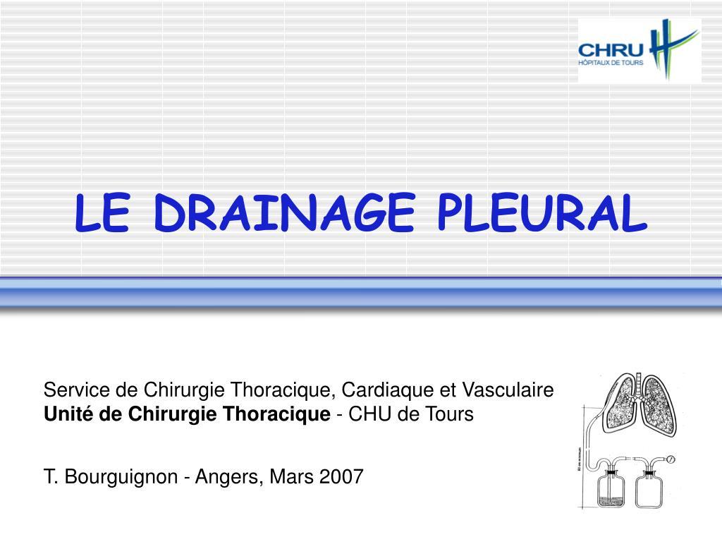 LE DRAINAGE PLEURAL .PDF