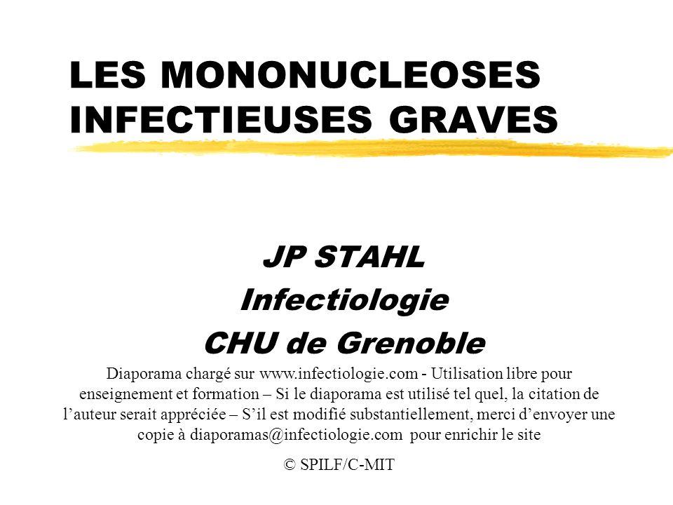 LES MONONUCLEOSES INFECTIEUSES GRAVES .PDF