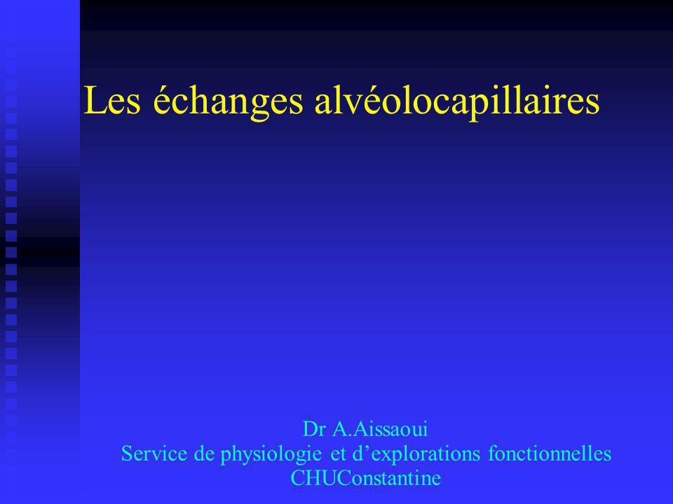 Les échanges alvéolocapillaires .PDF