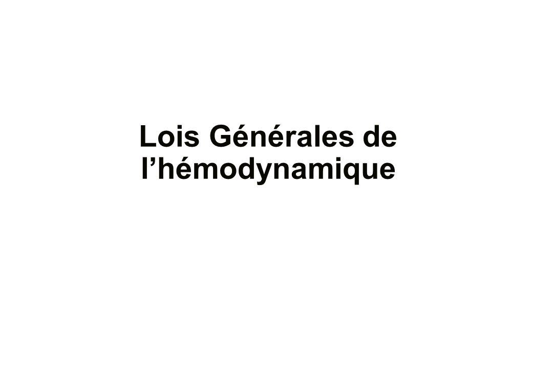 Lois Générales de l'hémodynamique .PDF