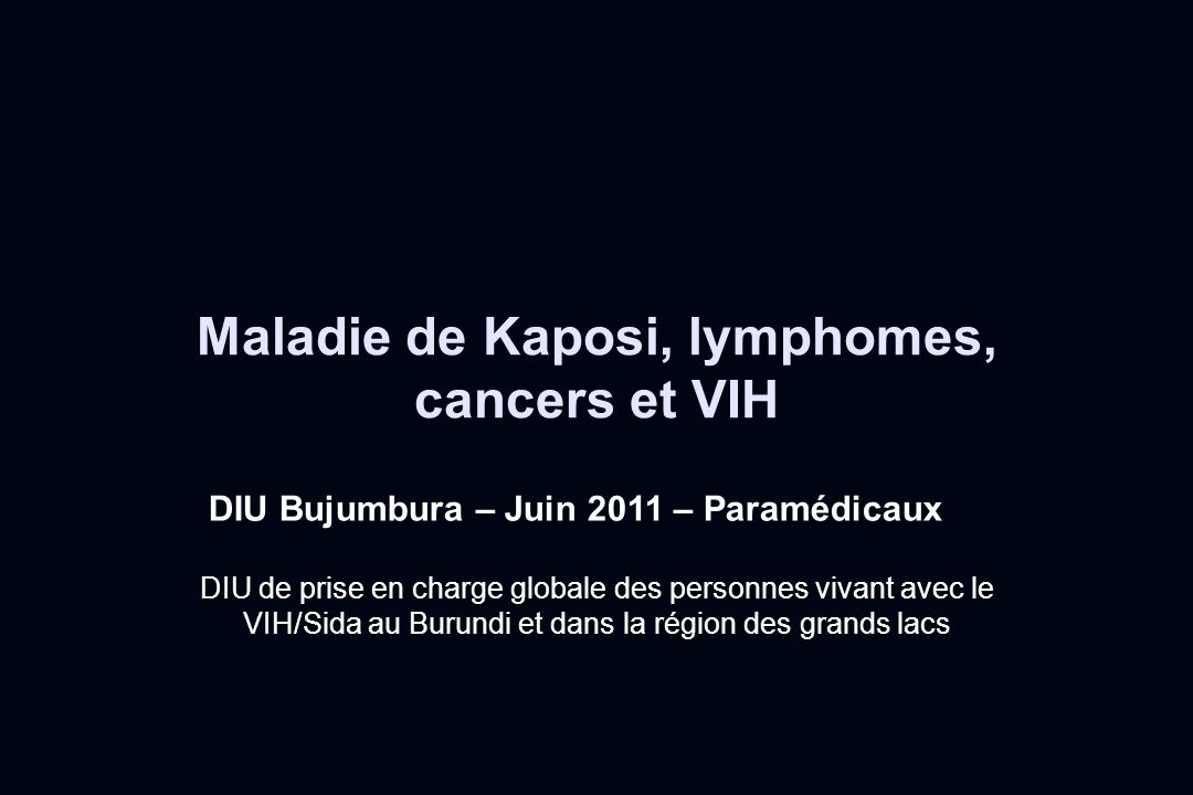 Maladie de Kaposi, lymphomes, cancers et VIH .PDF