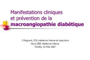 Manifestations cliniques et prévention de la macroangiopathie diabétique .PDF