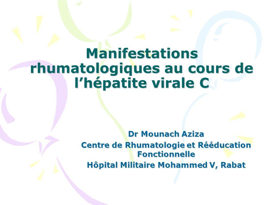 Manifestations rhumatologiques au cours de l'hépatite virale C .PDF