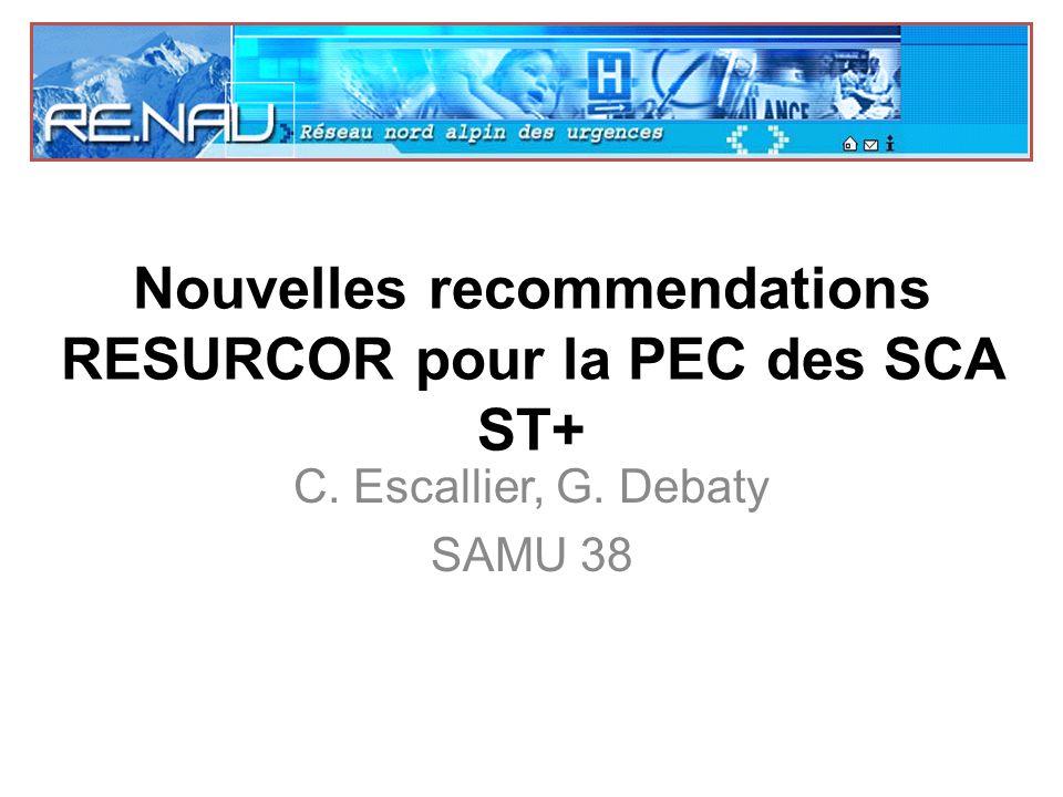 Nouvelles recommendations RESURCOR pour la PEC des SCA ST+ .PDF