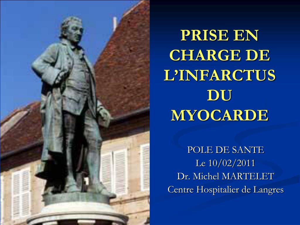 PRISE EN CHARGE DE L'INFARCTUS DU MYOCARDE .PDF