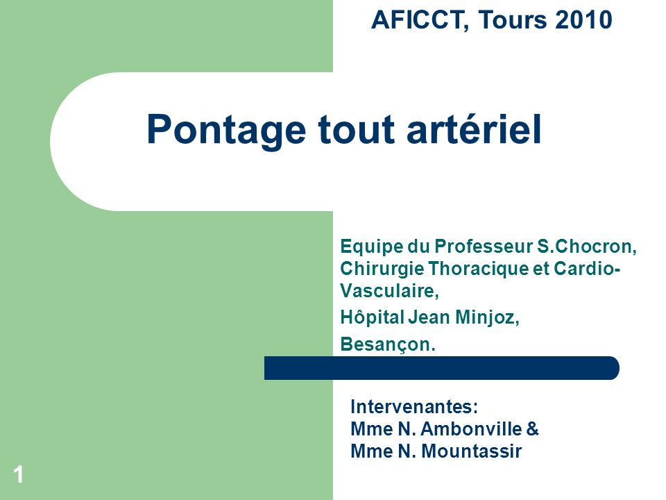 Pontage tout artériel .PDF