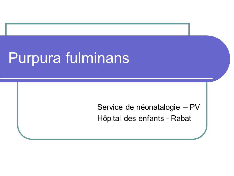 Purpura fulminans .PDF