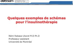 Quelques exemples de schémas pour l'insulinothérapie .PDF