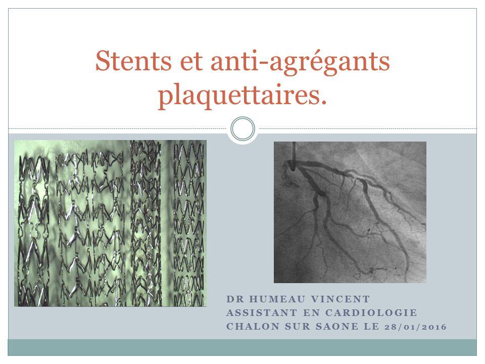 Stents et anti-agrégants plaquettaires .PDF