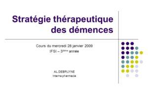 Stratégie thérapeutique des démences .PDF