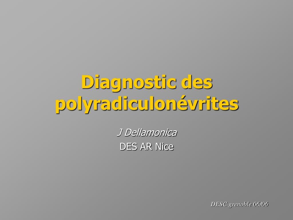 Diagnostic des polyradiculonévrites .PDF