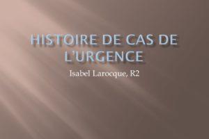Histoire de cas de l'urgence .PDF