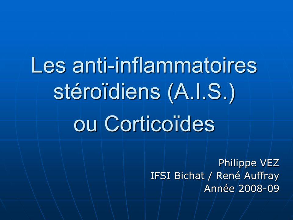 Les anti-inflammatoires stéroïdiens (A.I.S.) ou Corticoïdes .PDF