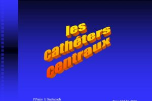 Les cathéters centraux .PDF
