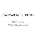 TRAUMATISME DU RACHIS .PDF